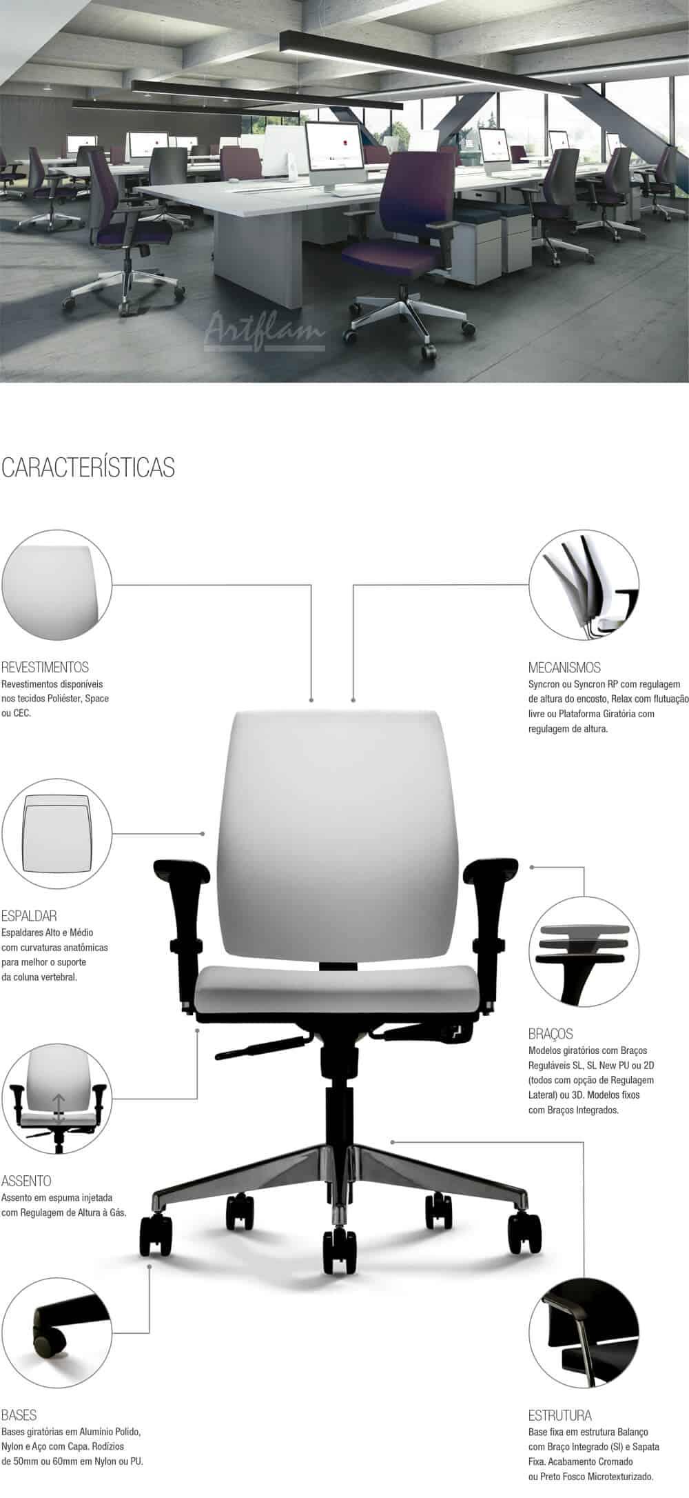 Cadeira Cavaletti Mais - Artflam Móveis